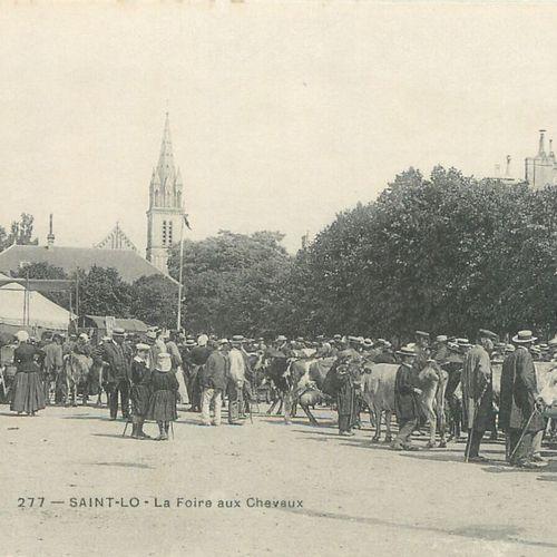 """13 CARTES POSTALES LES MARCHES : Saint Lô. """"3cp Le Marché de la Places des Alluv…"""
