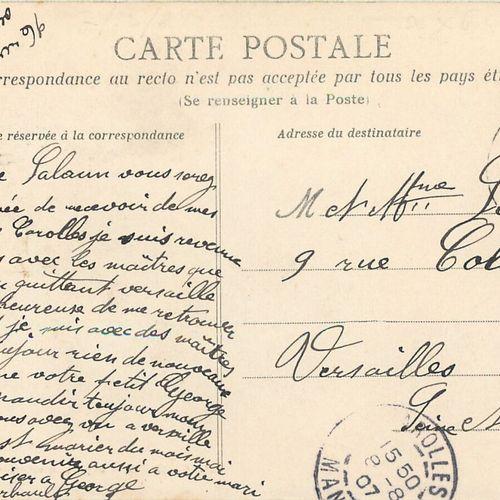 """1 CARTE POSTALE ATTELAGE : Sélection Manche. """"31 Carolles Départ du courrier (de…"""