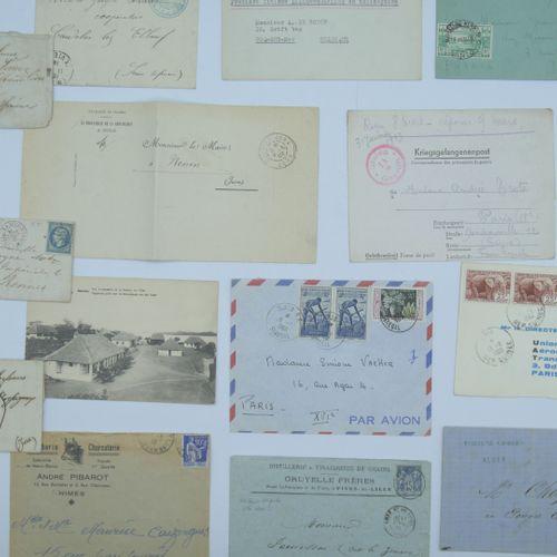 PHILATELIE MARCOPHILIE : Ensemble de 160 documents. Marques sur Lettres, Envelop…