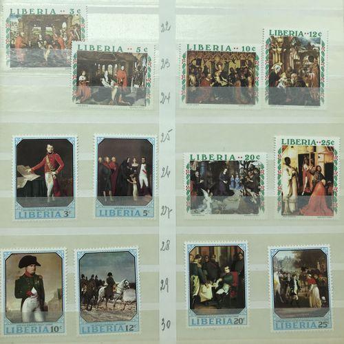 PHILATELIE 21 Albums : Thématique Tableaux : Timbres **/*/° des 5 Continents en …