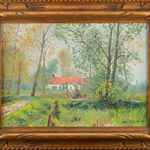 MODERN SCHOOL Country Landscape Oil on canvas Framed