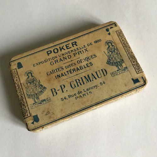 Maison GRIMAUD  Jeux de cartes dans son emballage d'origine  Début XXe