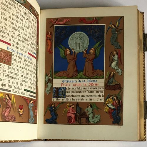 Hours of the Middle Ages. Gruel and Engelmann in 12 square illustrated with chro…