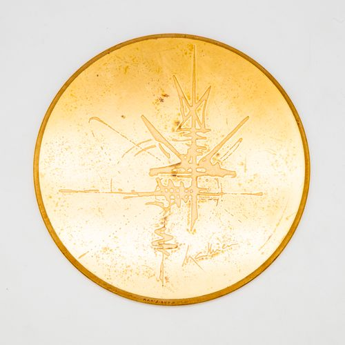 """Georges MATHIEU (1921 2012)  Bronze medal bearing the inscription """"VII Centenary…"""