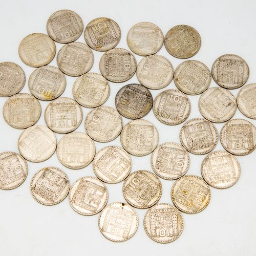 Lot of 35 coins of 10 Francs Turin 1931