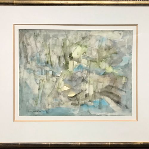 VIETNAM VIETNAMIAN SCHOOL 20th century  Abstract landscape  Watercolor  Signed l…