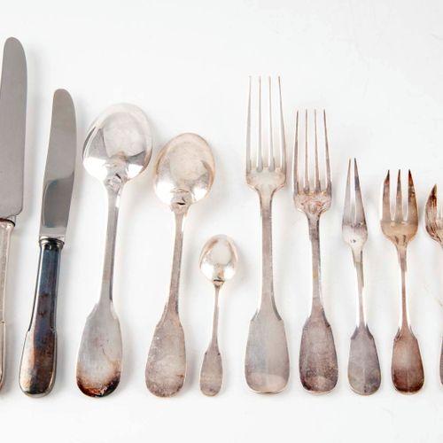 RAVINET DENFERT RAVINET D'ENFERT  Part of a silver plated cutlery set including …