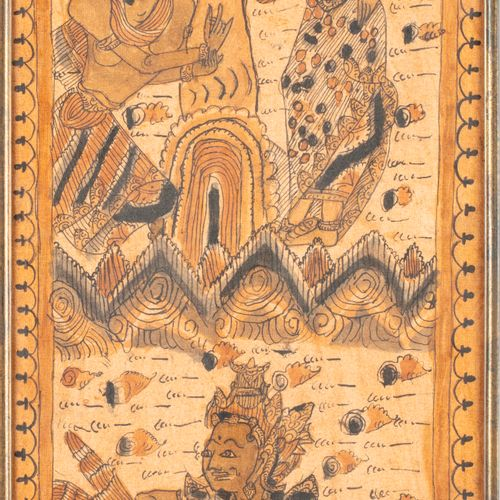 THAÏLANDE THAILAND or BALI  Painting on fabric with a deity motif  83 x 24 cm at…