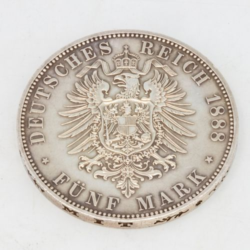 1 coin of 5 Mark Friedrich III (Frederick III), 1888, A