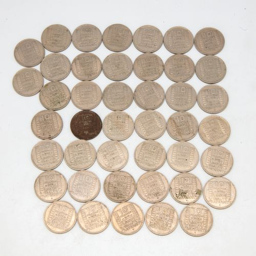 Lot of 43 coins of 10 Francs Turin 1949