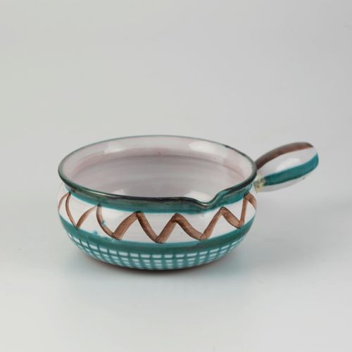 Robert PICAULT (1919 2000)  Glazed ceramic pot with side grip with geometrical d…