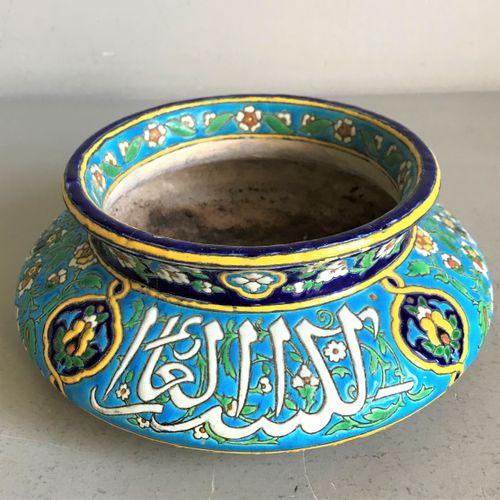VIEILLARD Jules VIEIILLARD Bordeaux  Ceramic bowl with a narrow neck decorated w…