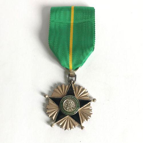 Enamelled metal Chevalier du Mérite medal of the Republic of Senegal and cord  L…