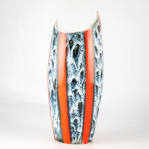 "VALLAURIS VALLAURIS  Vase in glazed earthenware  Mark in hollow on the base ""Luc…"