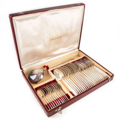 ERCUIS House of ERCUIS  Part of a silver plated Art Deco style cutlery set, incl…