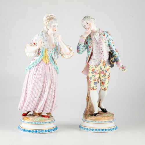 MEISSEN In the taste of MEISSEN  Couple of an elegant woman and an elegant man i…