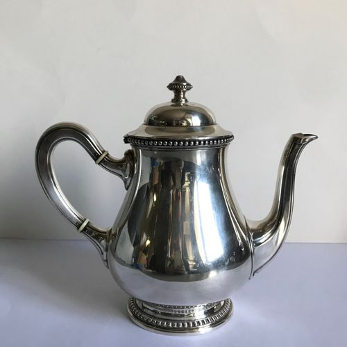 RAVINET DENFERT House of RAVINET DENFERT  Large silver plated teapot chased with…