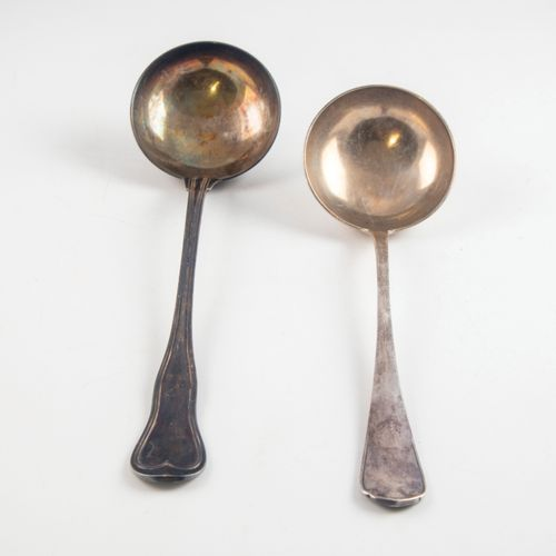 CHRISTOFLE CHRISTOFLE  Set of two silver plated ladles