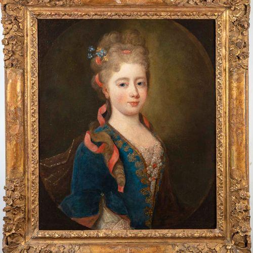 ECOLE FRANCAISE XVIIIè ECOLE FRANCAISE du XVIIIe  Portrait de Mme des Oeillets, …