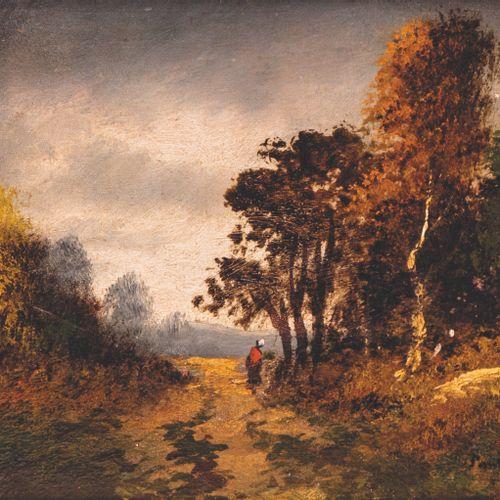 ECOLE FRANCAISE ECOLE FRANCAISE de la fin du XIXe, autour de Barbizon  Paysages …