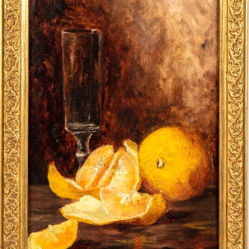 ECOLE FRANCAISE ECOLE FRANCAISE  Nature morte aux oranges  Huile sur toile  Mono…