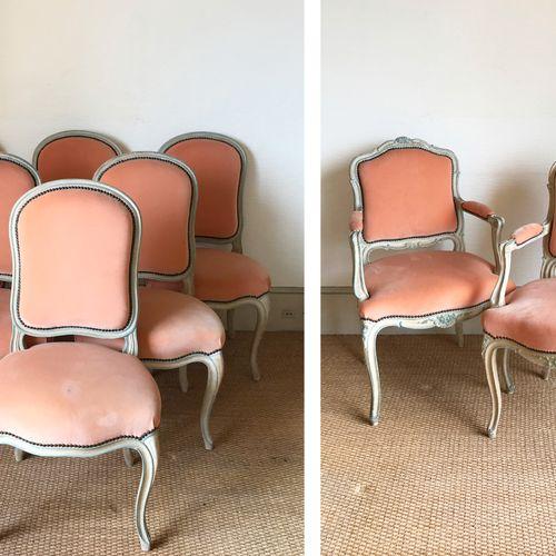 Maison JANSEN Attribué à la Maison JANSEN Suite de dix chaises et deux fauteuils…