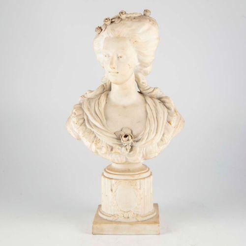 ECOLE FRANCAISE ECOLE FRANCAISE fin XIXe début XXe  Buste de femme dans le style…