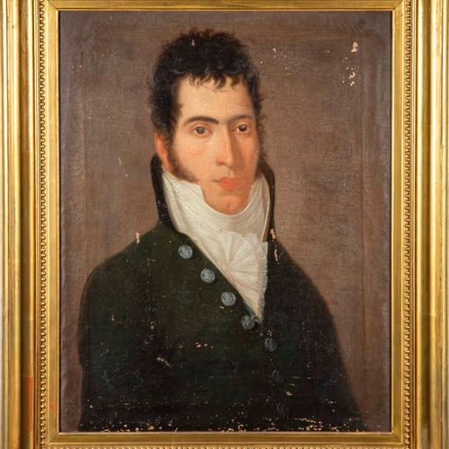 ECOLE FRANCAISE XIXè ECOLE FRANCAISE du XIXe  Portrait d'homme à la cravate blan…