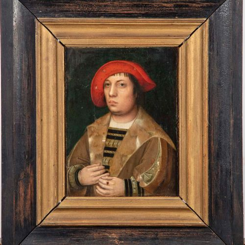 ECOLE DU NORD ECOLE DU NORD de la fin du XVIe  Portrait d'homme  Huile sur panne…