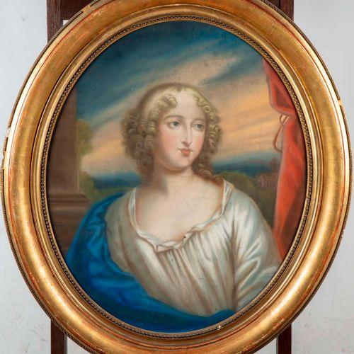ECOLE FRANCAISE XIXè ECOLE FRANCAISE du XIXe  Portrait de jeune femme  Pastel  7…