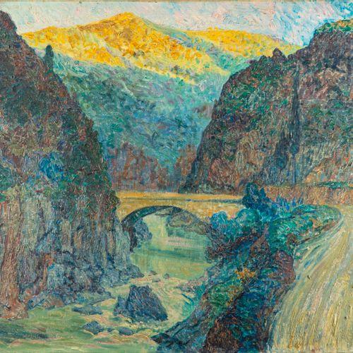 Paul Cirou Paul CIROU (1869 1951)  Le pont des gorges Ténes Algérie  Huile sur t…
