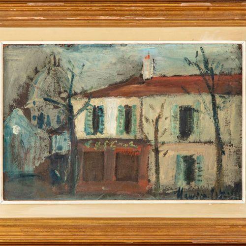 Maurice Utrillo Maurice UTRILLO (1883 1955)  Le restaurant Spielmann, Place du T…