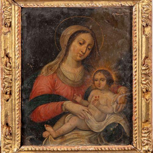 Ecole Flamande XVIIIè ECOLE FLAMANDE du XVIIe  La Vierge et l'Enfant  Huile sur …