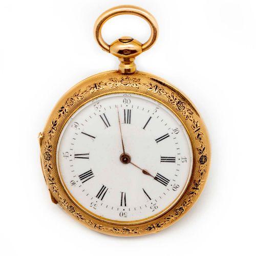 Montre de dame en or jaune dans son écrin avec sa clé  Poids brut : 24,5 g.
