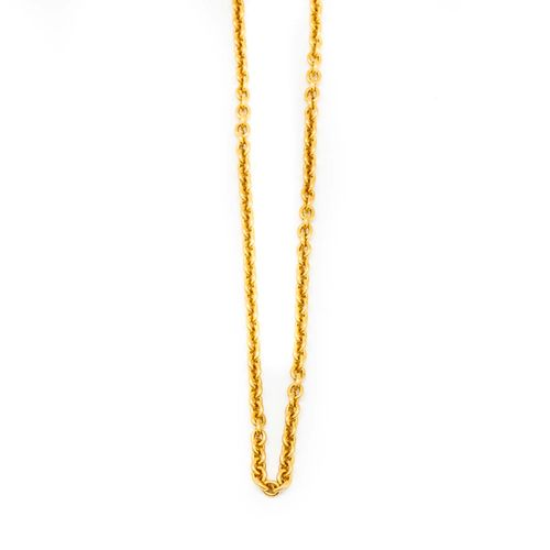 Belle chaine en or jaune  Poids : 15,2 g.