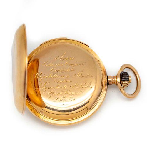 Montre de gousset de poche en or jaune  Poids : 116,3 g.