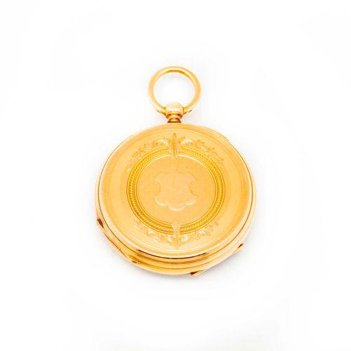 Montre de gousset en or jaune, cadran émaillé  Epoque XIXe