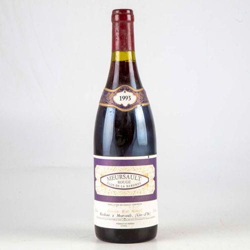 1 bouteille MEURSAULT 1993 Clos de la Baronne Domainerené Manuel  Niveau Bon  Et…