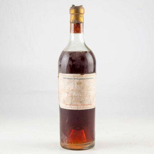 1 bouteille CHÂTEAU D'YQUEM 1944 1er cru supérieur Sauternes  Niveau mi épaule  …