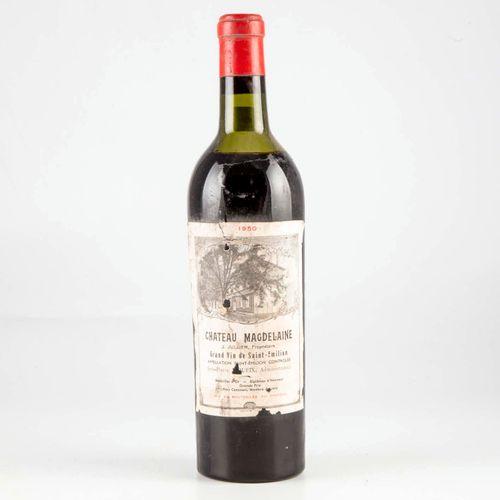 1 bouteille CHATEAU MAGDELAINE 1950 Saint Emilion
