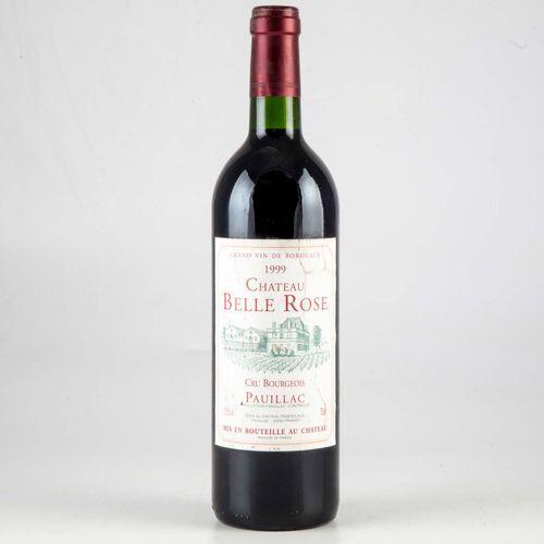 1 bouteille CHATEAU BELLE ROSE 1999 Pauillac  Niveau très léger bas  Etiquette f…