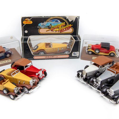 GUISVAL GUISVAL  Lot de 9 véhicules dont 3 en BO (une Cadillac n°726, une Packar…