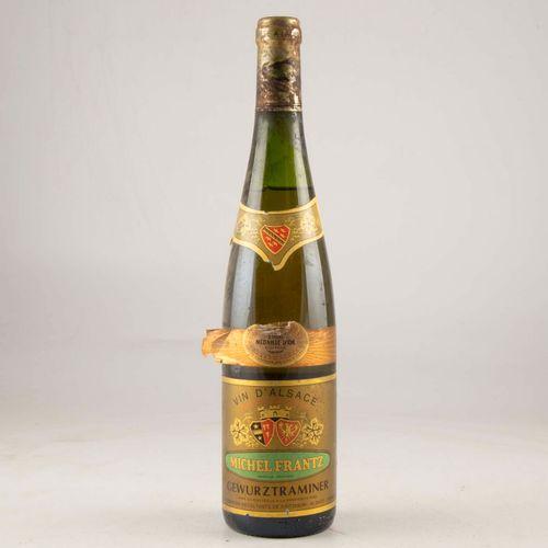 1 bouteille ALSACE 1996 Gewurztraminer Michel Frantz  Niveau mi épaule à bas  Et…