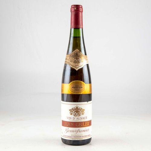 1 bouteille ALSACE 2000 Gewurztraminer Jean Geiler  Niveau bon  Etiquette légère…