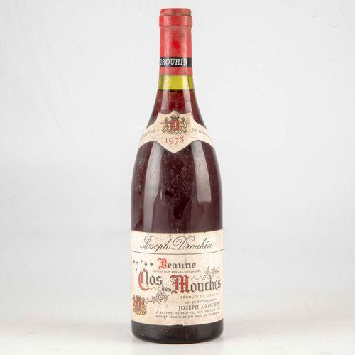 1 bouteille CLOS DES MOUCHES 1978 Beaune Domaine Joseph Drouhin  Niveau Bon  Lég…