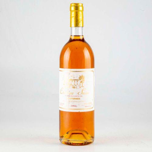 1 bouteille CHÂTEAU SUAU 1994 Sauternes  Niveau Bon  Légères déchirures