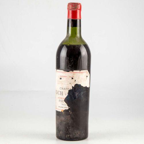 1 bouteille CHATEAU LYNCH BAGES 1952 Pauillac  Etiquette déchirée