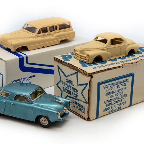 PROVENCE MOULAGE PROVENCE MOULAGE 1/43  Lot comprenant Studebaker 1951 coupé ble…