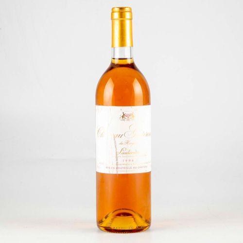 1 bouteille CHÂTEAU GUITERONDE DE HAYLOT 1996 Sauternes  Niveau bon