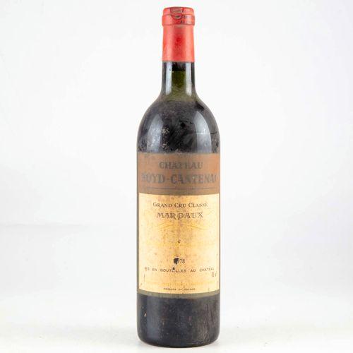 1 bouteille CHATEAU BOYD CANTENAC 1978 Margaux
